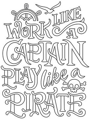 Work Like a Captain design (UTH17198) from UrbanThreads
