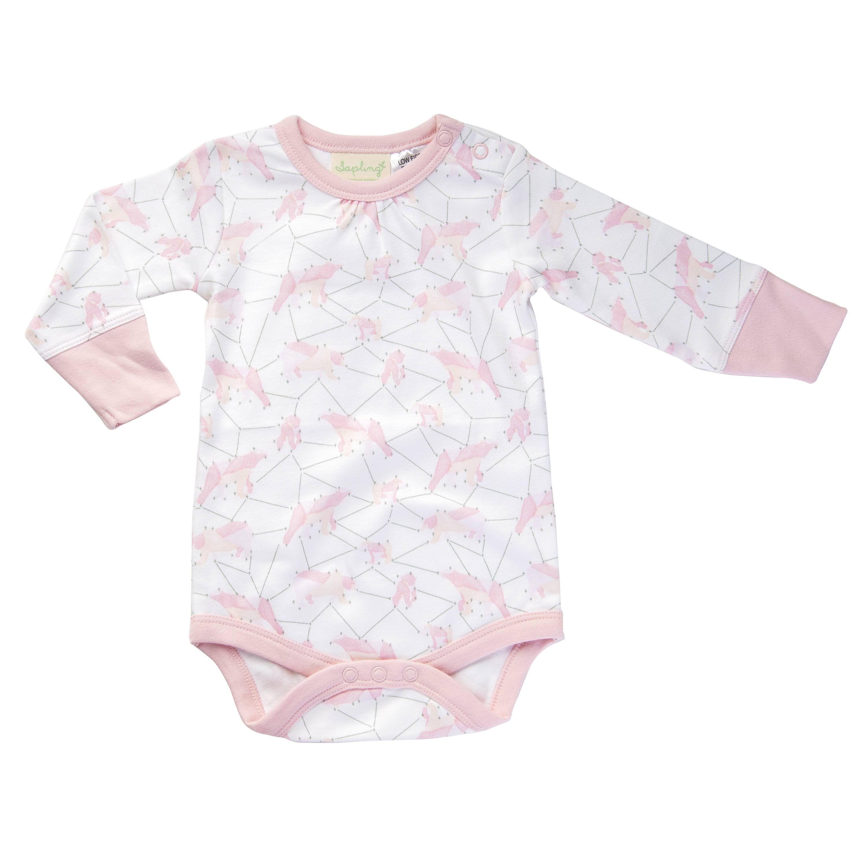 Jaime King for Sapling 100% Organic Cotton Long Sleeve Bodysuit- Galaxy  Bear Pink 66a3b5e74