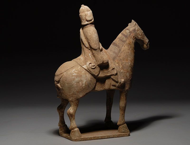 Northern Wei Terracotta Horse & Rider image 2 | carvings ...