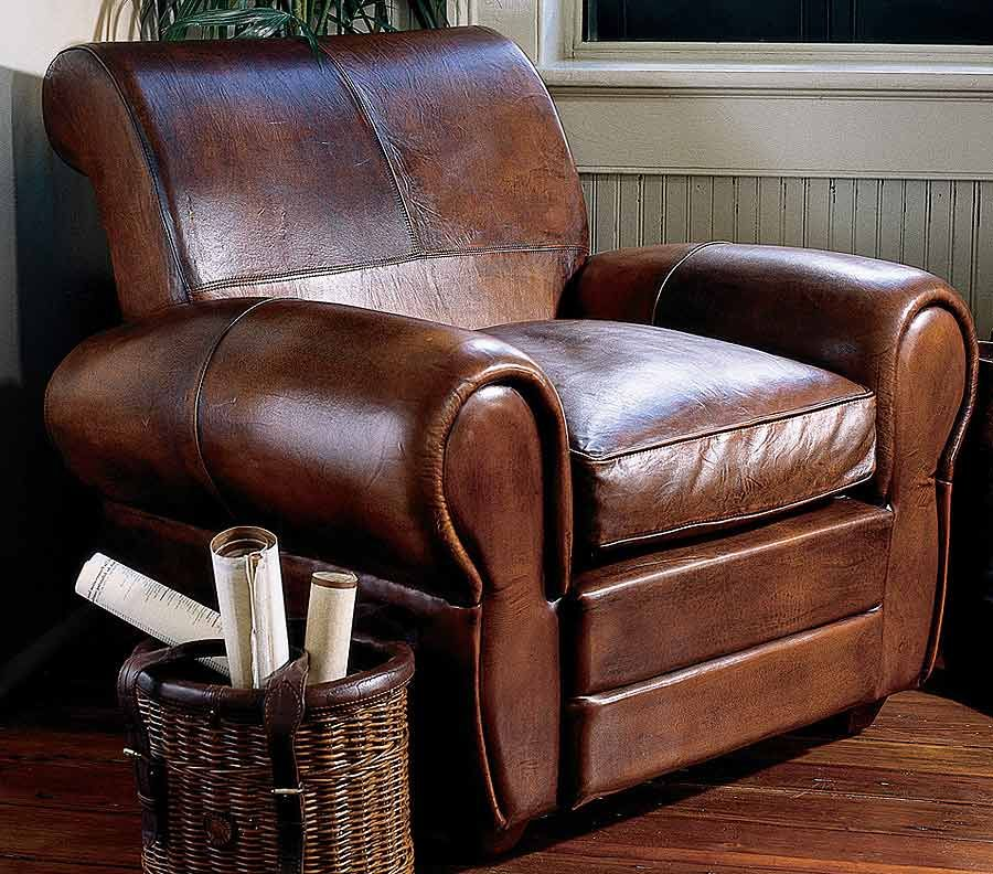 Over Stuffed Leather Chair Comfy Leather Chair Unique Chair Chair #overstuffed #living #room #chairs