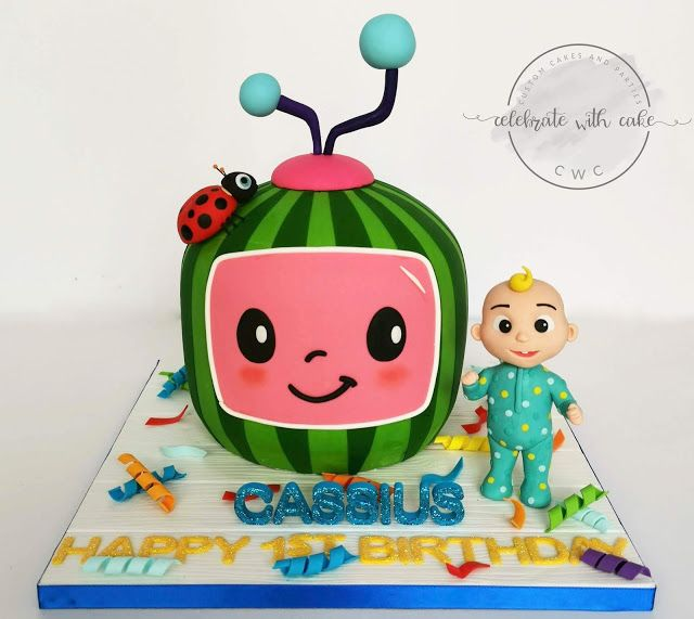 3D sculpted Cocomelon with Boy Cake