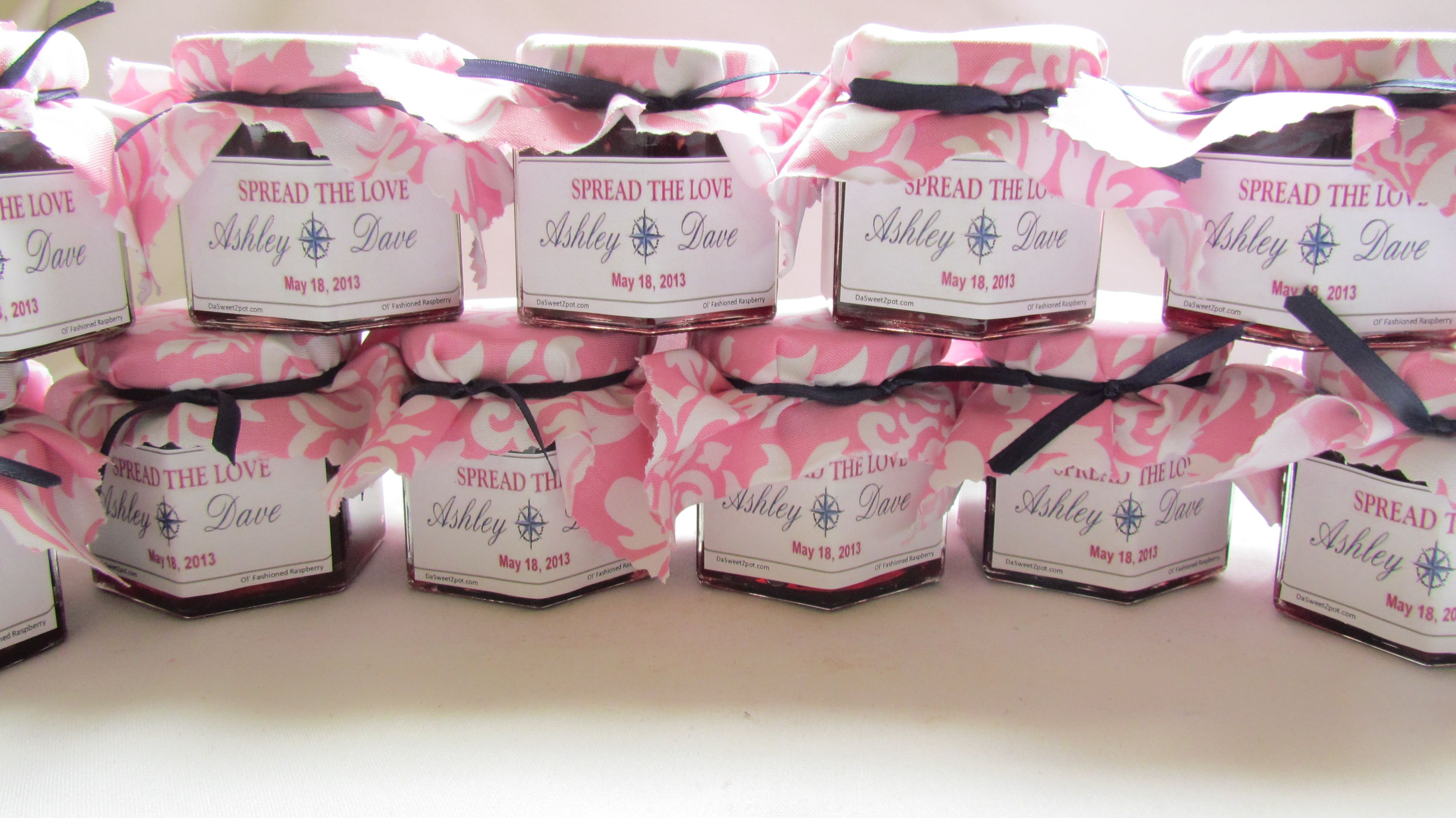 Damask Bridal Shower jam favors from DaSweetZpot.com | Wedding ...