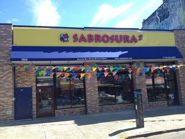 Sabrosura 2 Restaurant 1808 Westchester Ave Bronx Ny 10472 Restaurant Signage Outdoor Outdoor Decor