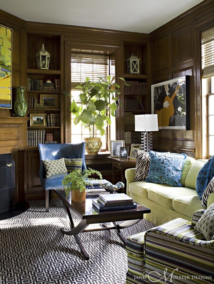 Wood Paneled Room Design: Live @ Janie Molster DesignsJanie Molster Designs