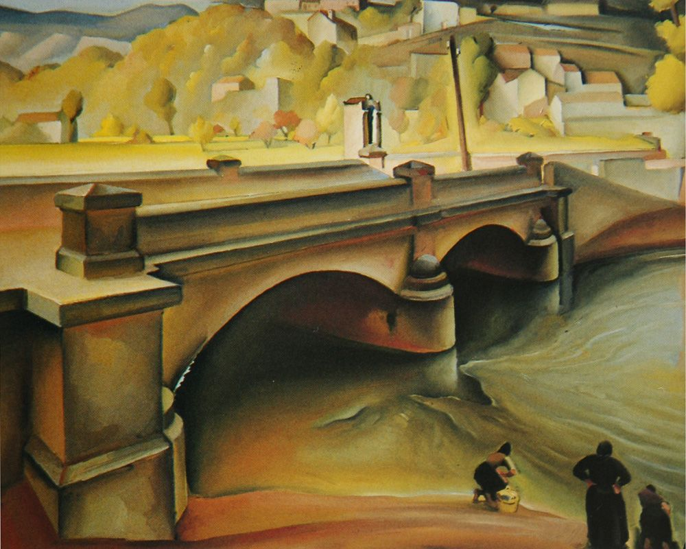 Vladimir Varlaj 1895 1962 The Bridge Croatian Expressionist Painting Art Expressionist
