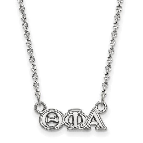 Roy Rose Jewelry Sterling Silver Alpha Gamma Delta Small Pendant