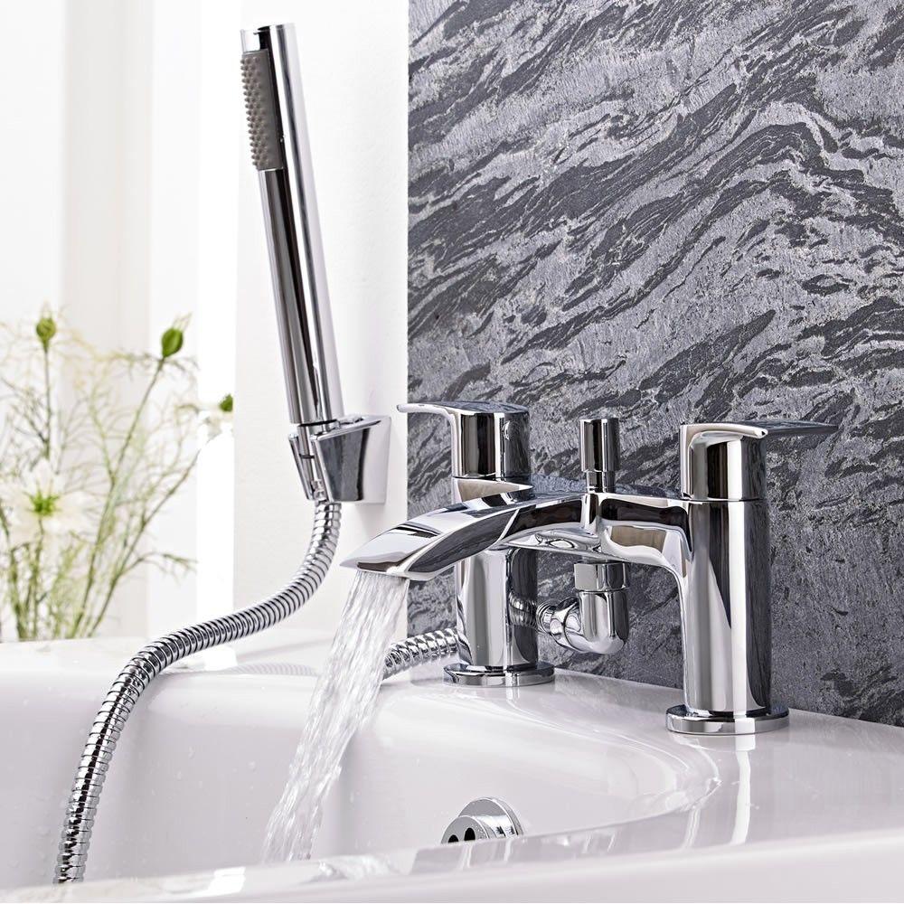 Milano Razor Chrome Bath Shower Mixer Tap Taps Bathrooms Bath Shower Mixer Bath Shower Mixer Taps Bath Mixer Taps
