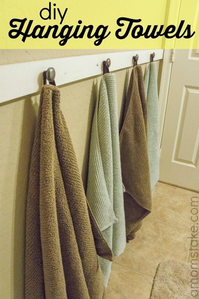 Diy Hanging Bathroom Towels In 2020 Hang Towels In Bathroom Hanging Bath Towels Bathroom Towel Decor