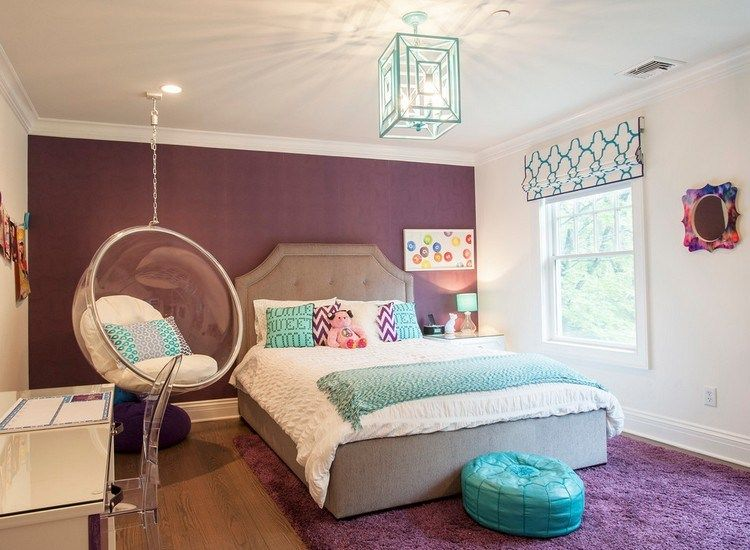 aubergine wandfarbe und teppich im m dchenzimmer hannah pinterest kinderzimmer. Black Bedroom Furniture Sets. Home Design Ideas