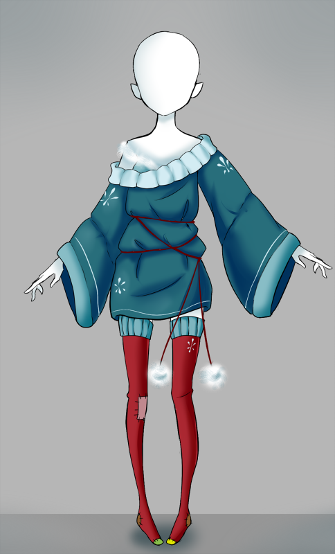 Adoptable outfit 12 [Auction CLOSED] by Eggperon