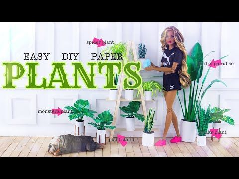 DIY - How to Make: 3 EASY Paper House Plants PLUS Plant Stand