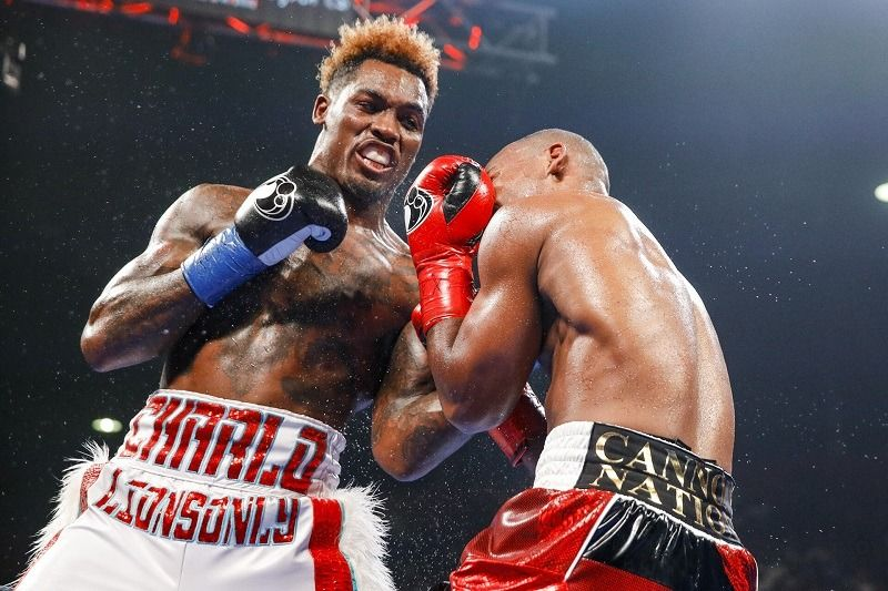 Wbc Middleweight World Champion Jermall Charlo In His Victory Over Brandon Adams At Nrg Arena Last Night Boxing News Keith Thurman Pacquiao Vs