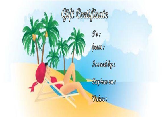 Tanning Salon Gift Certificates Template Salon Gift Certificate