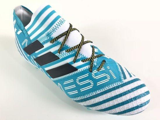 2afe4ff0198be SR4U Caution Premium Soccer Laces on adidas Nemesis Messi 17.1