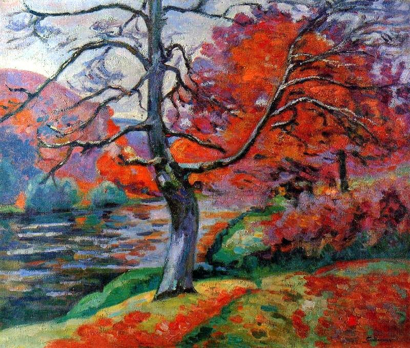 """Style """"Fauvism"""" -  Armand Guillaumin - Echo Rock, 1905 - WikiPaintings.org"""