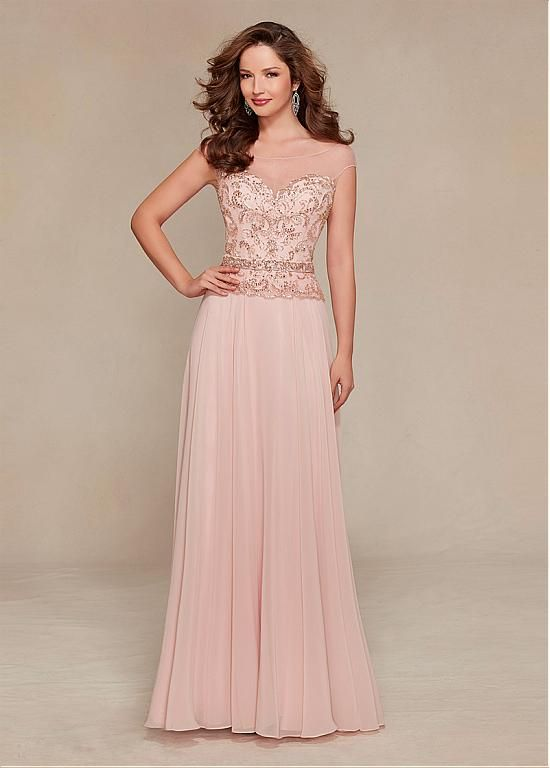 Buy discount Gorgeous Chiffon Bateau Neckline Floor-length A-line ...