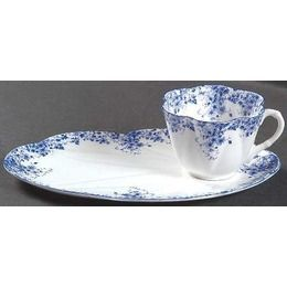 snack plate and cup set | Shelley Dainty Blue Snack Plate u0026 Cup Set Fine  sc 1 st  Pinterest & snack plate and cup set | Shelley Dainty Blue Snack Plate u0026 Cup Set ...
