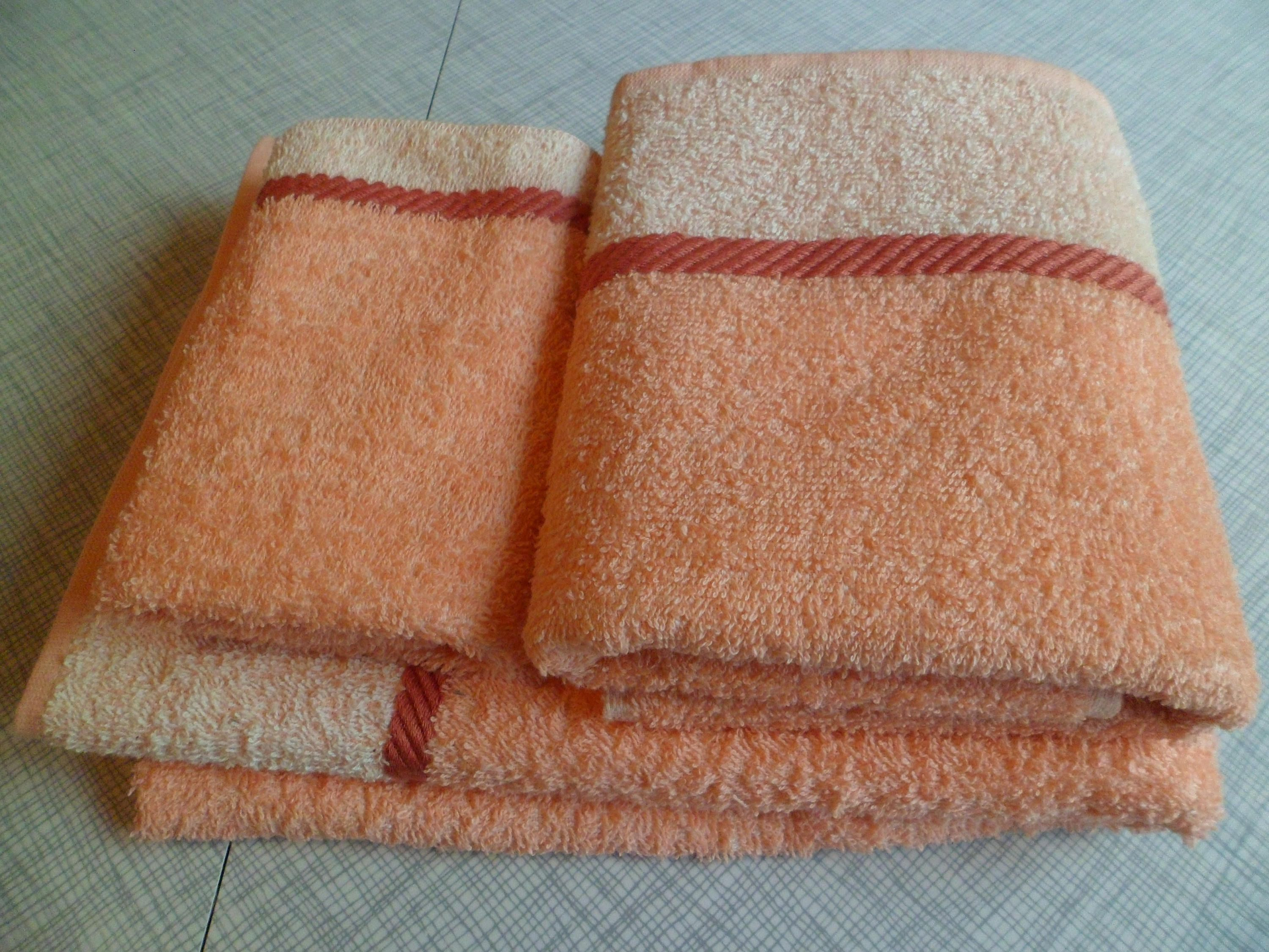 Vintage 1940 S Cannon Bath Towel Hand Towel Washcloth Set In
