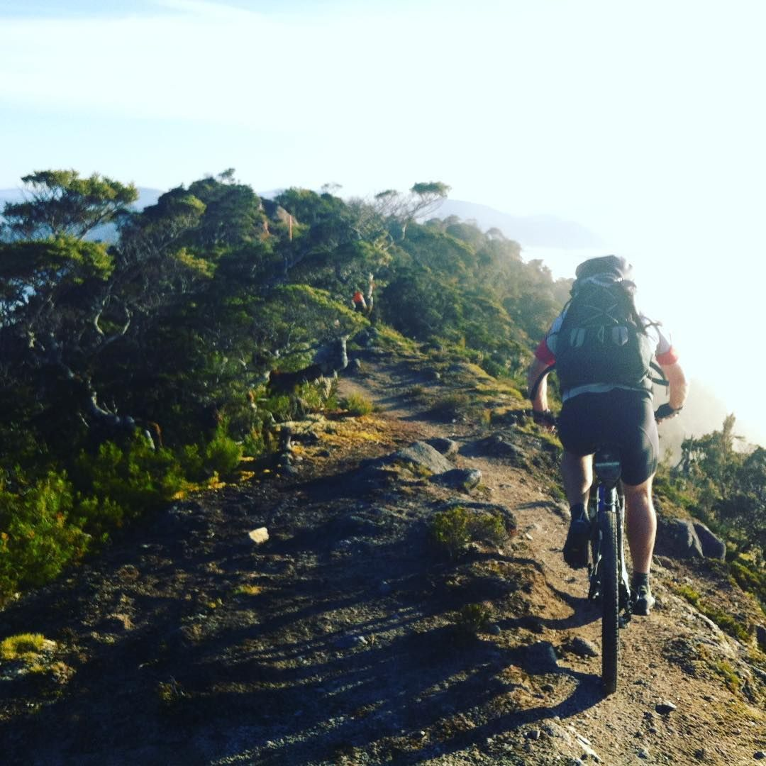 Riding the ridge on the Old Ghost Road
