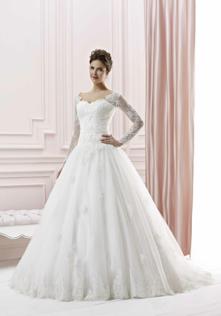ballgown lace wedding dress with sleeves - Google Search | Wedding ...