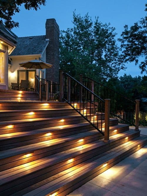 27 Outdoor Step Lighting Ideas That Will Amaze You In 2020 Step Lighting Outdoor Lighting Design Outdoor Steps