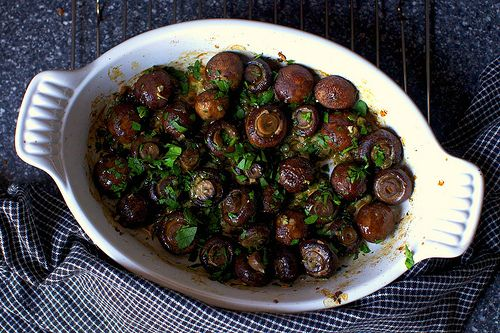 Garlic butter roasted mushrooms