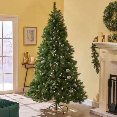 Artificial Christmas Tree Sizes.The Holiday Aisle Frosted Green Spruce Artificial Christmas