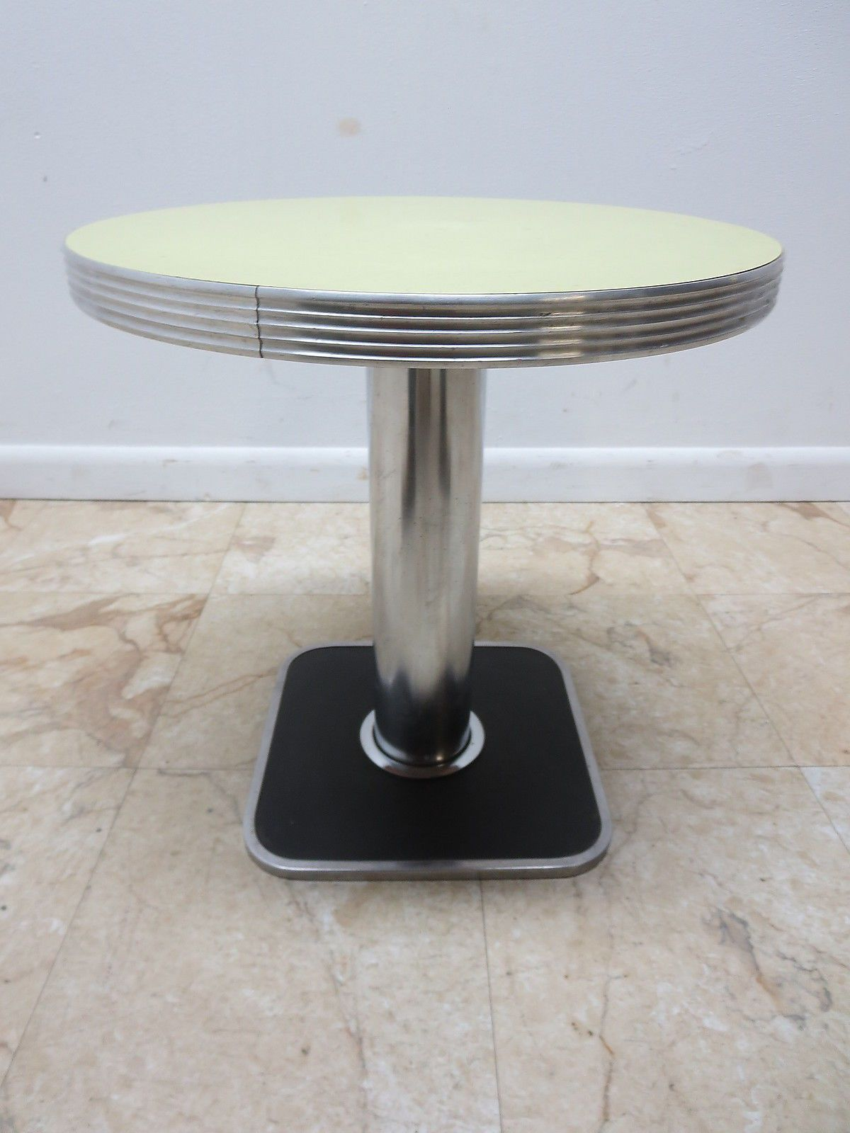 Captivating 1950u0027s Soda Shop Chrome Formica Lamp End Table Pedestal Ice Cream Parlor A  | EBay