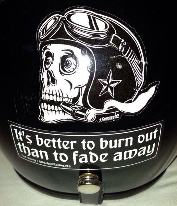 Sticker Great Motto Let S Get The Gas Casques Motos Casque Custom Casque Moto