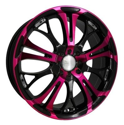 black and pink rims  I need to paint my car black first n