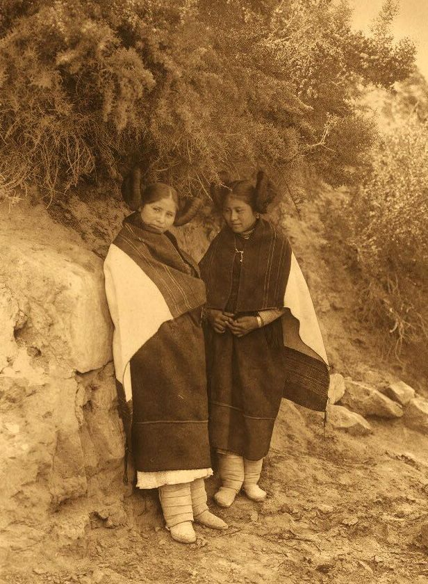 hopi maidens in a quiet moment