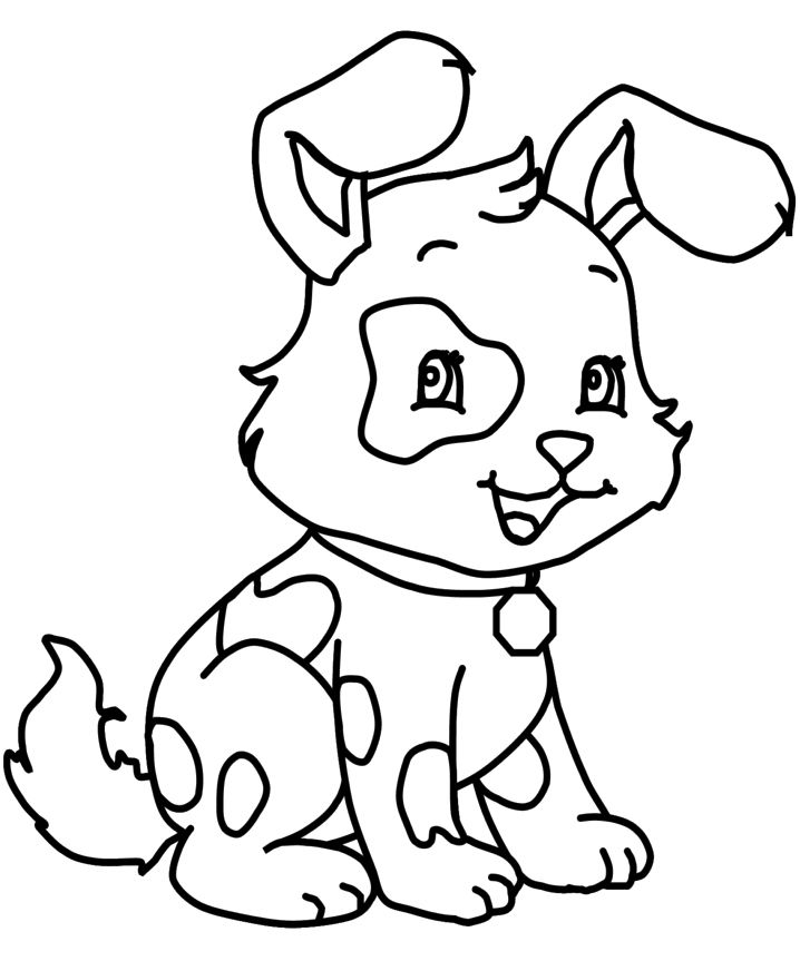 Little Dog Coloring Page | Dog | Pinterest | Dog, Coloring books ...