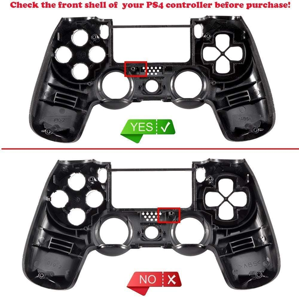 Extremerate Soft Touch Grip Front Housing Shell Faceplates For Ps4