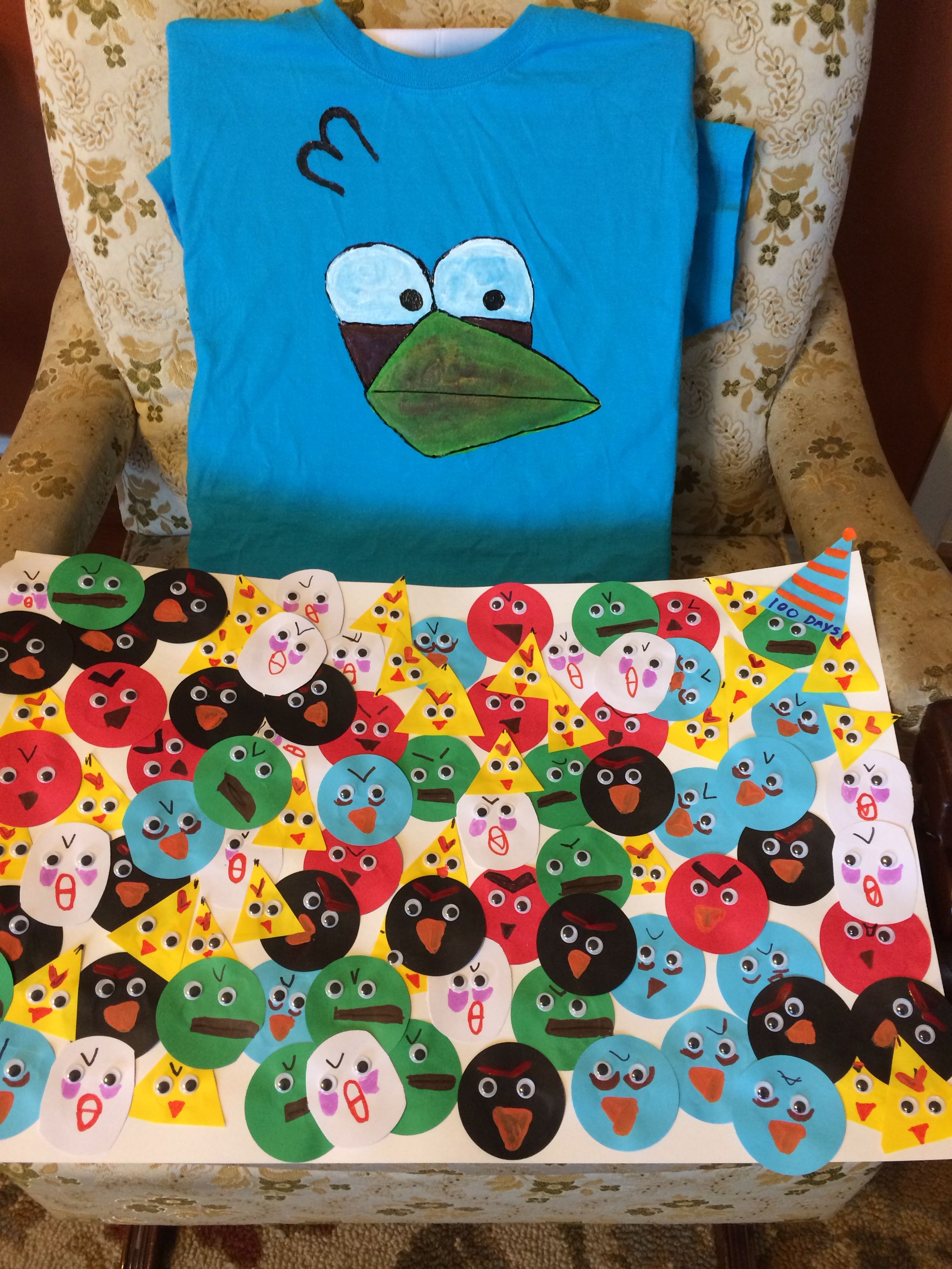 100 Days Of School Project Angry Birds With Images