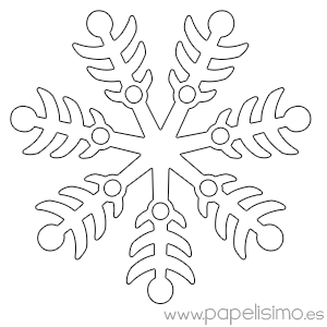 Manualidades fáciles para niños en Navidad: Copos de nieve
