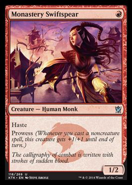 Monastery Swiftspear | KHANS OF TARKIR Visual Spoiler