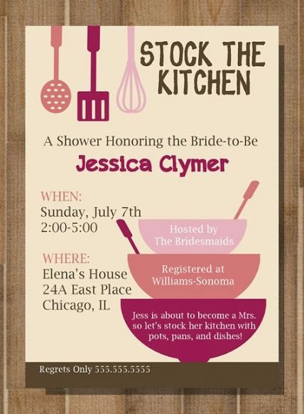 54  ideas for kitchen bridal shower invitations themed
