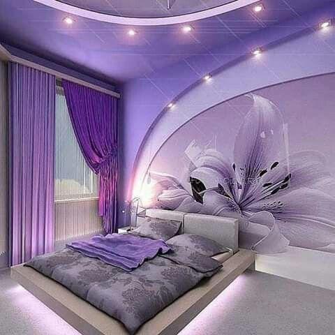 Pin by Gek mas Ayu gea on PURPLE PASSION | Purple bedrooms ...