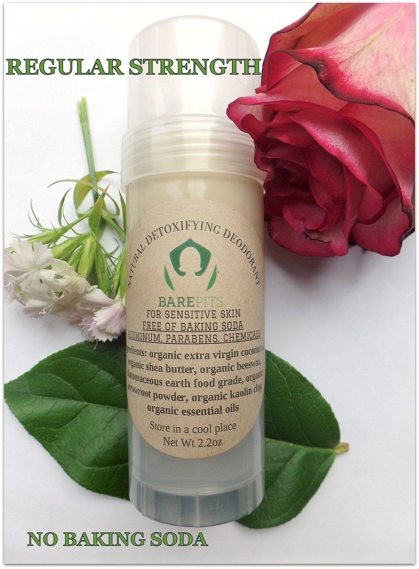 bare pits natural organic detox deodorant regular strength 2 2 oz
