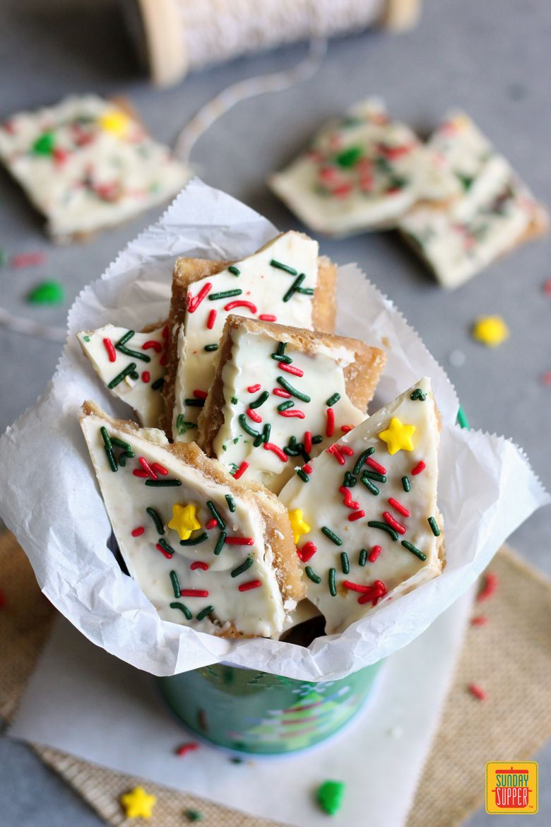 White Chocolate Christmas Crack Recipe.White Chocolate Christmas Crack Recipe Topping Options