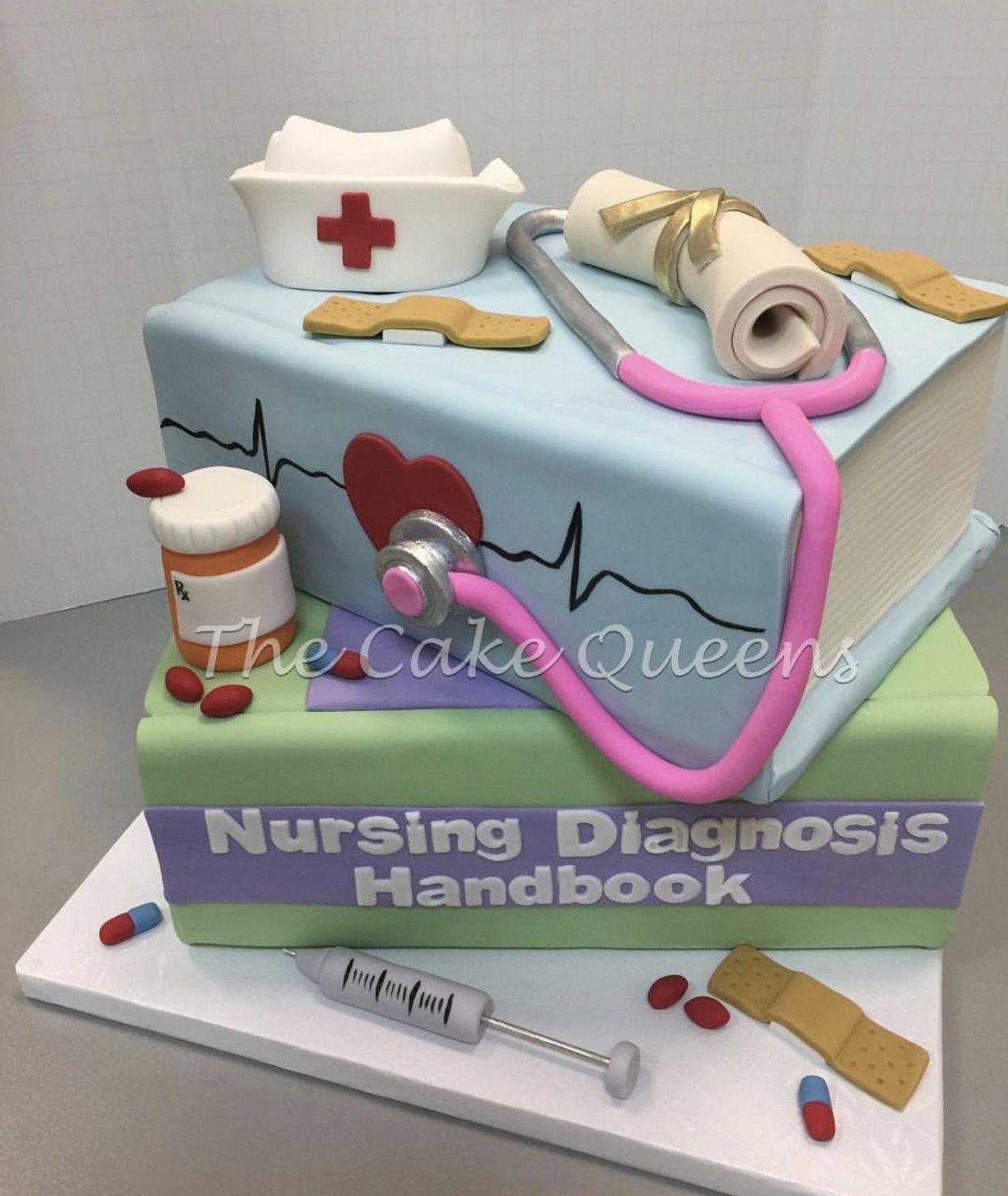 Nursing School Graduation Cake Celebration Cakes