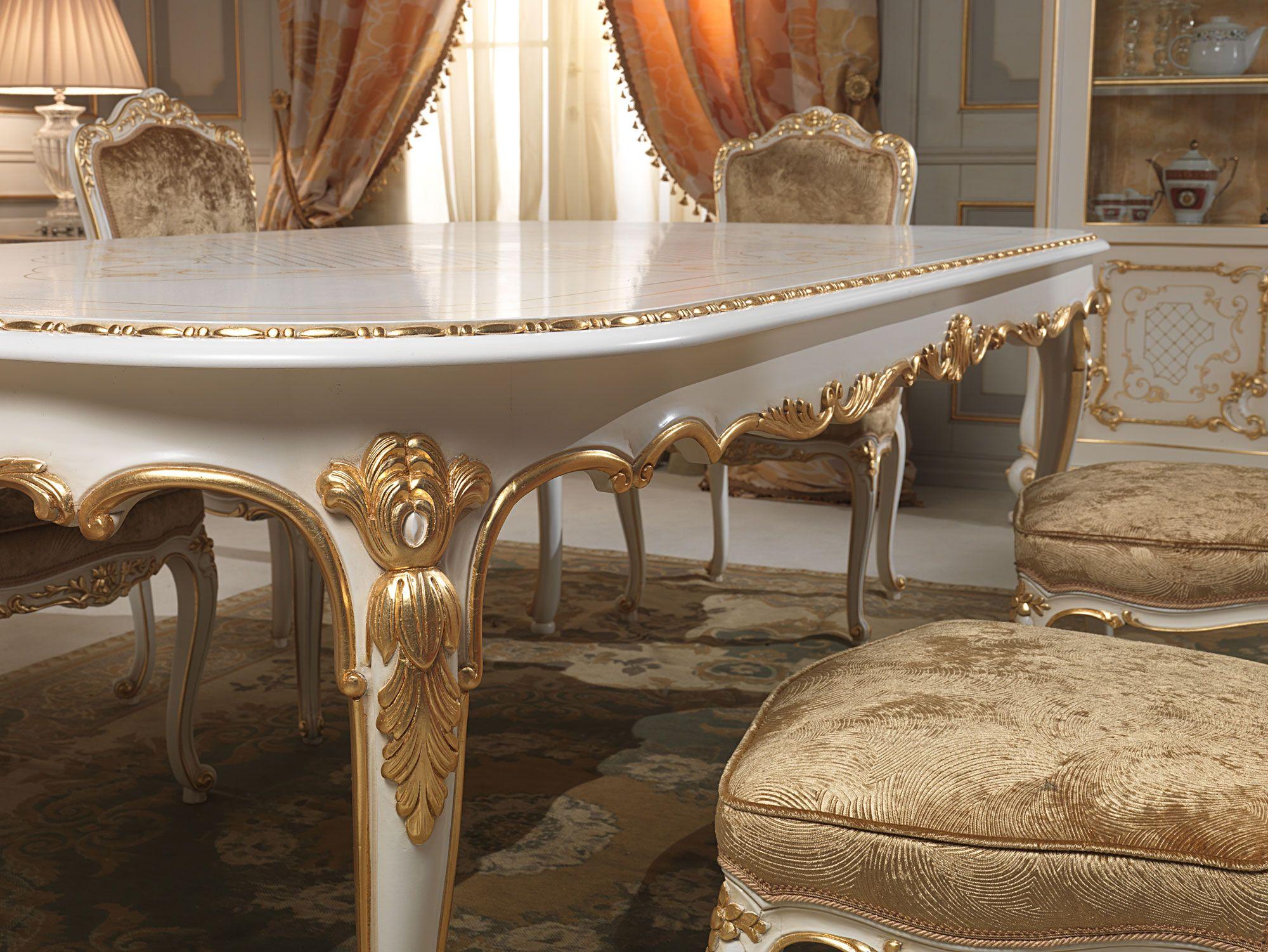 Tavolo Intarsiato ~ Arredamento sala classica venezia: piano del tavolo intarsiato