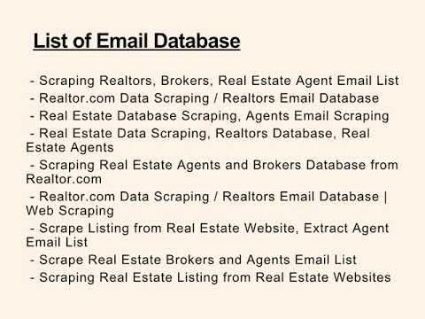 scraping realtors brokers real estate agent email list data