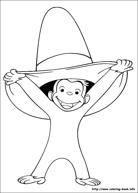 Curious George Coloring Picture Kids Can Color At Birthday Party