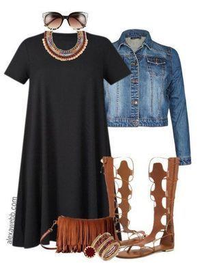 Plus Size Boho Dress Outfit Idea - Plus Size Fashion for Women - alexawebb.com #ballet fitness cloth...