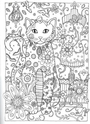 Creative Haven Creative Cats Dover Publications Coloring | Coloring ...