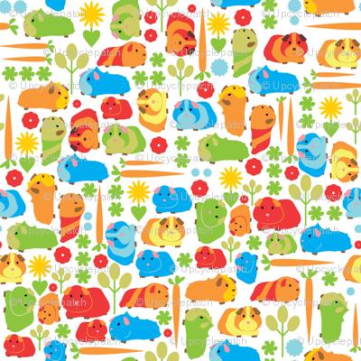 Spoonflower- guinea pig vegetable patch fabric