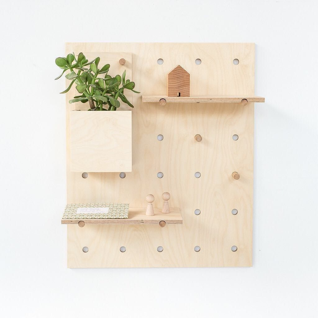 How cute is the Peggy Pegboard by @plyroom! Peggy comes with shelves ...