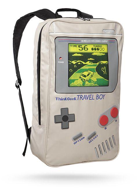 You can now carry all those great childhood memories on your back. With this travel boy backpack darumbinichblank.de.............................Tragen Sie jetzt einige Ihrer besten kindheitserinnerungen auf dem Rücken mit dem Gameboy Rucksack darumbinichblank.de