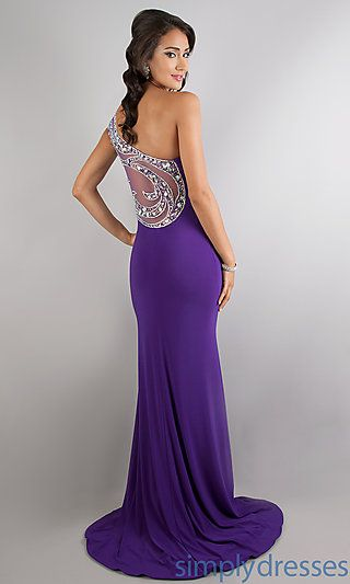 Floor Length One Shoulder Prom Dress At Simplydressescom Prom